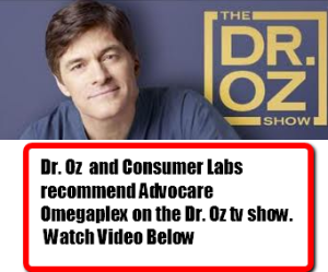 Dr. Oz Recommends Advocare Omegaplex